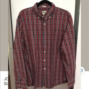 JCREW Button Down Tailored Fit HolidaySeason Plaid